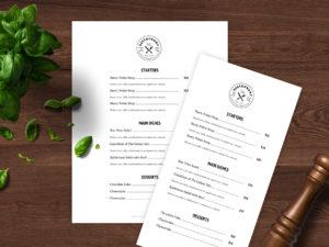 Easy to customize restaurant menu template - ASBA Creative Studio