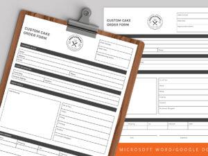 Custom Cake Order Form