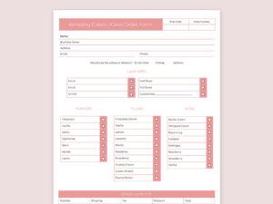 Cake Order Form 7