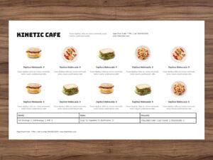 menu template horizontal