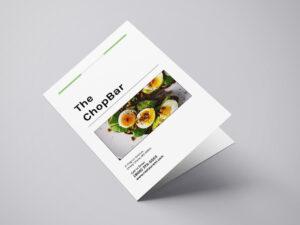 Bifold menu template - to-go menu template