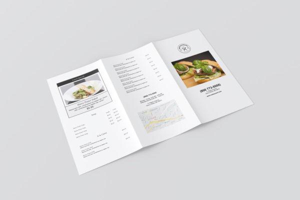 Large trifold menu template